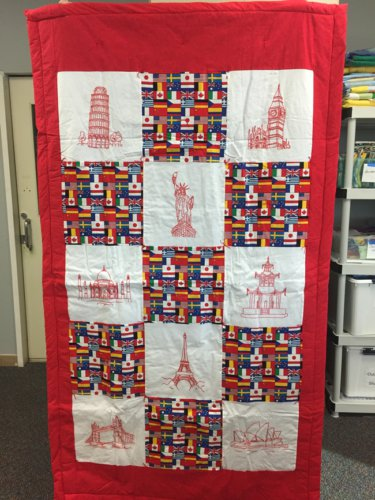 nydia_100th Quilt .. where in the world is Nydia
